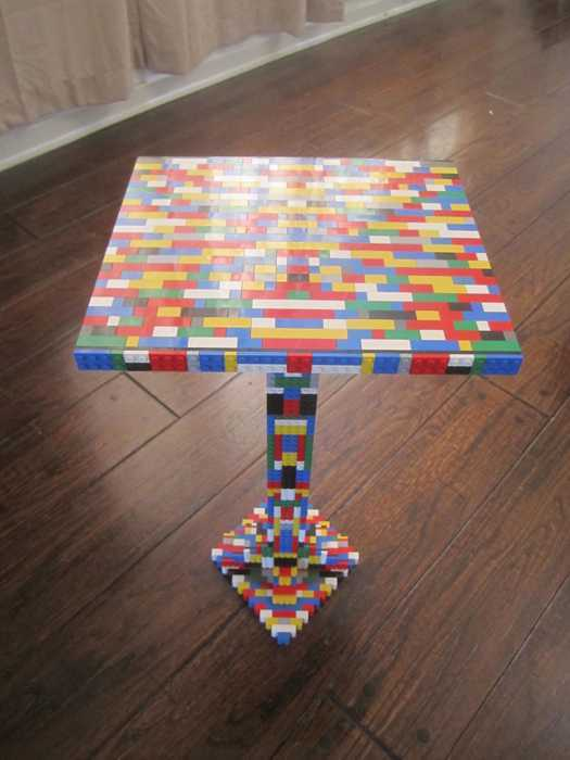 Lego Glass Top Table