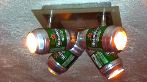 Redneck DIY Projects - Fancy Beer Can Lighting @ 10GoneViral.com