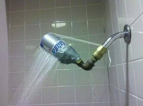 Redneck DIY Projects - Waterfall Shower Head @ 10GoneViral.com