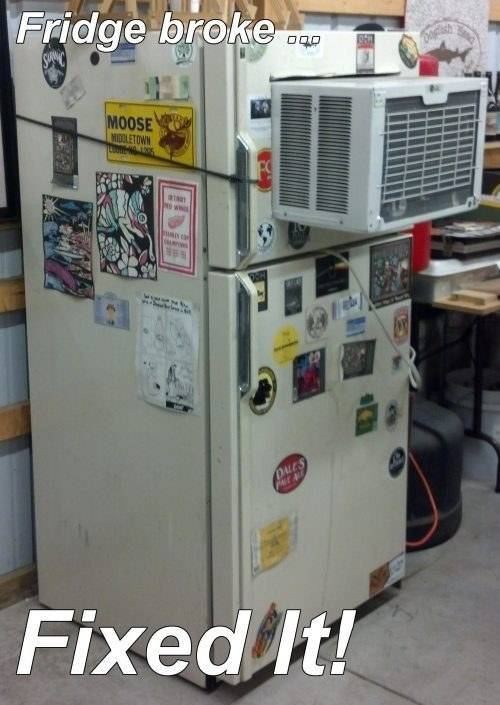 Redneck DIY Projects - Refrigerator Repair @ 10GoneViral.com
