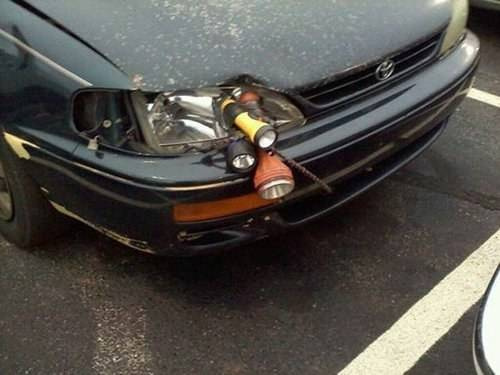 Redneck DIY Projects - Headlight Repair @ 10GoneViral.com