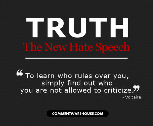 Truth The New Hate Speech - Like & Share If You Agree