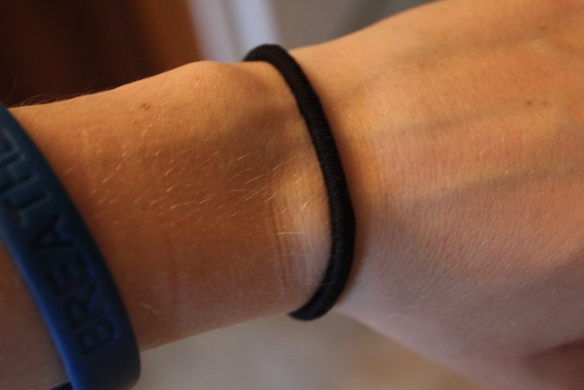 "Kopp wants to keep her story going. ""Please share this,"" she writes, ""because I'm pretty sure 90% of us don't think twice about keeping hair ties on our wrists."""
