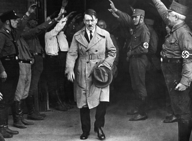 Adolf Hitler is mentioned 7.7 times a month in Congressional meetings.