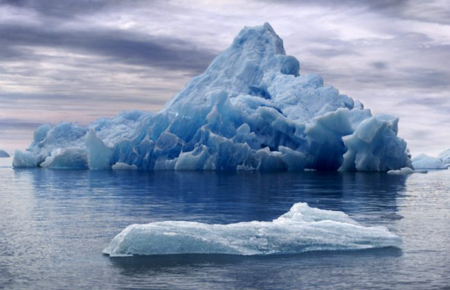 "Melting glaciers and icebergs make a distinctive fizzing noise known by geologists as ""bergy seltzer."""