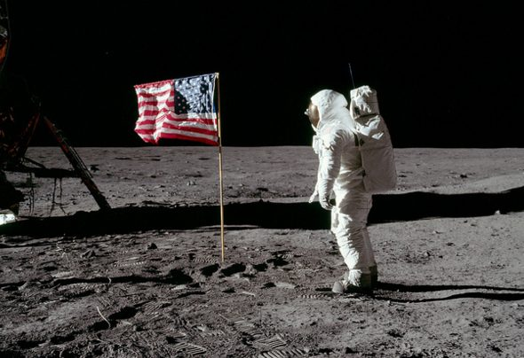 Shortly after stepping foot on the moon, Buzz Aldrin became the first person to urinate on it.