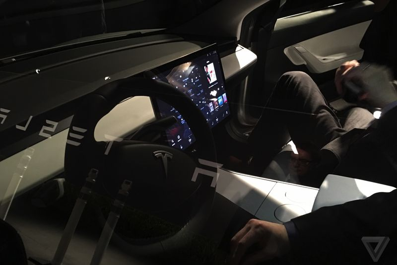 Tesla Model 3 Interior Launch