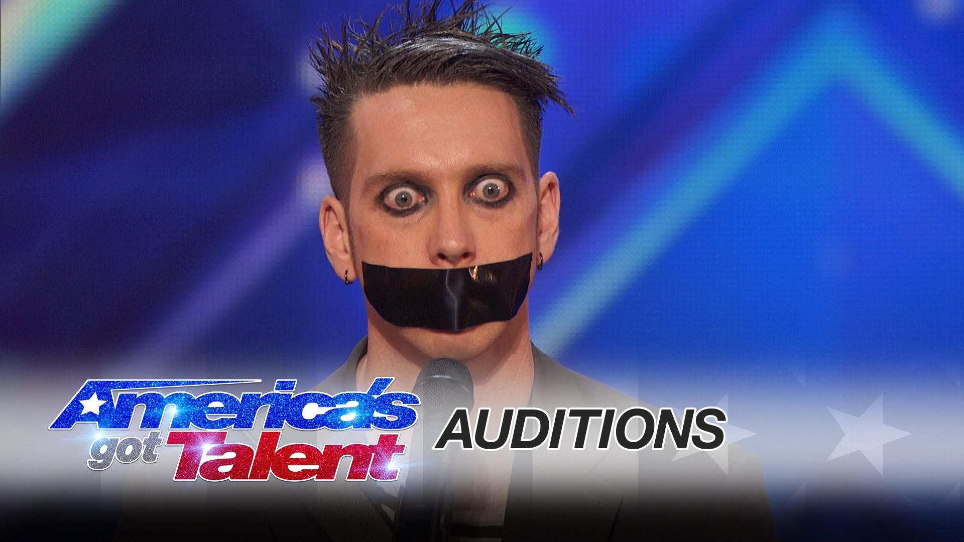 Guy With Tape On His Face Puts On Hilarious Mime Performance On America's Got Talent