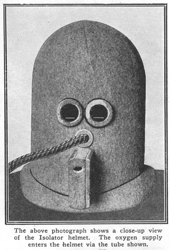 The Isolator was a device invented by Hugo Gernsback in the 1920s that was designed to help people concentrate.