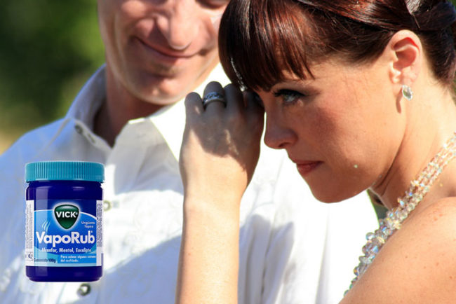 Need to cry on cue? Rub a little Vicks under your eyes -- NOT in your eyes -- and the menthol should do the trick.