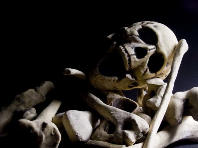 The bones are then dried, crushed into powder, and given back to the family.