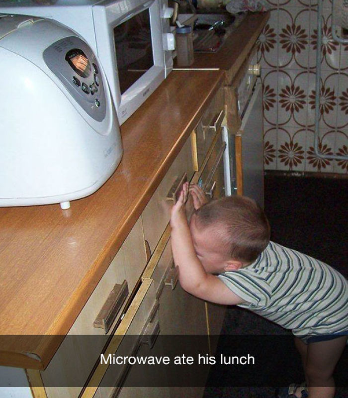 Microwave ate his lunch