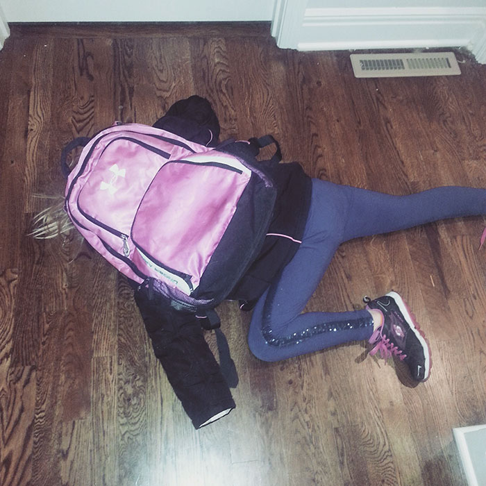 My 7-year-old Was Not Interested In Going To School Today.