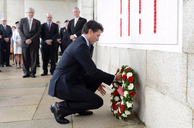 China Trudeau Hong Kong War Memorial