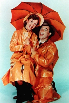 Debbie Reynolds and Gene Kelly
