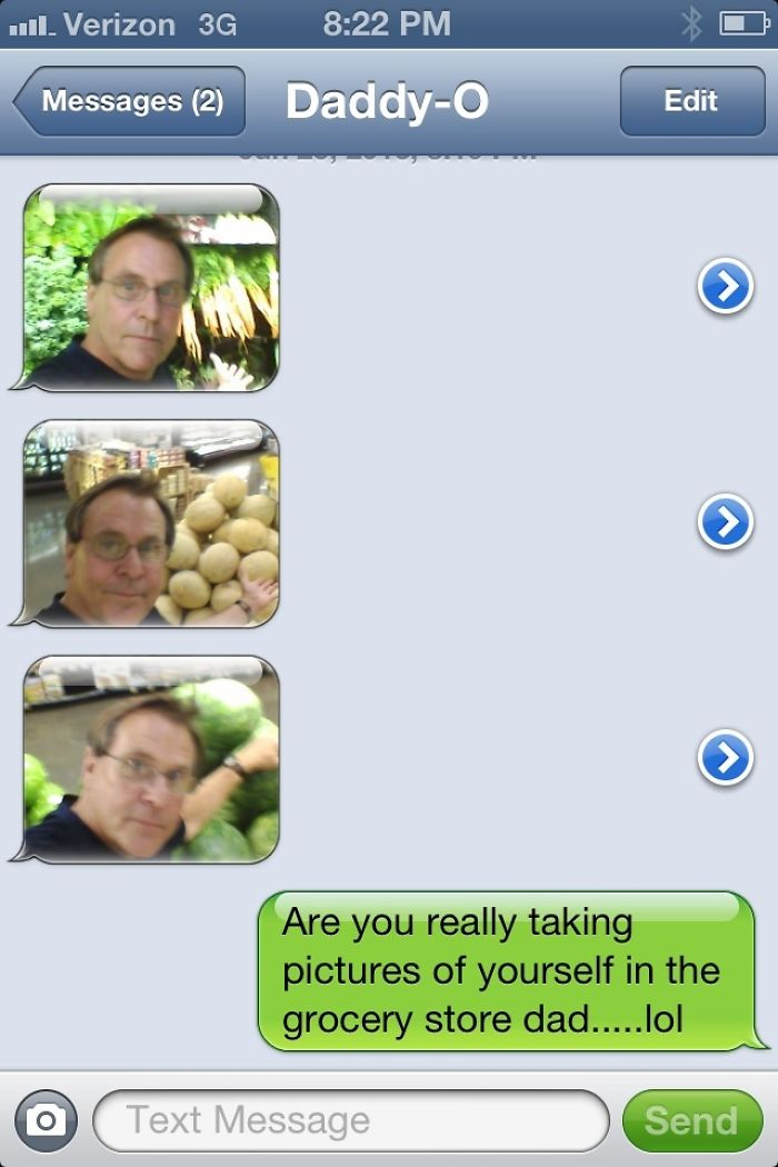 So My Dad Got His First Camera Phone Today...
