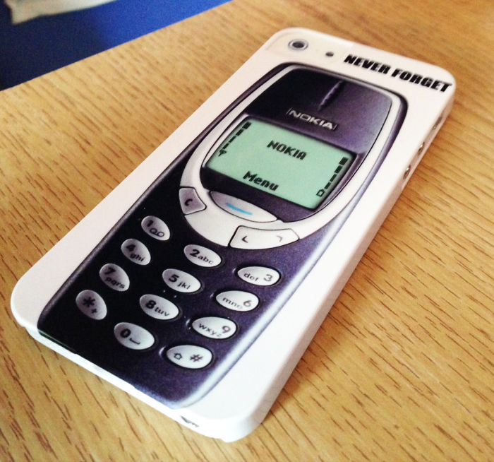 After A Multi-year Battle I Finally Convinced My Dad To Upgrade His Old Nokia 3310 To An Iphone. The Custom Phone Case He Ordered For It Arrived Today..