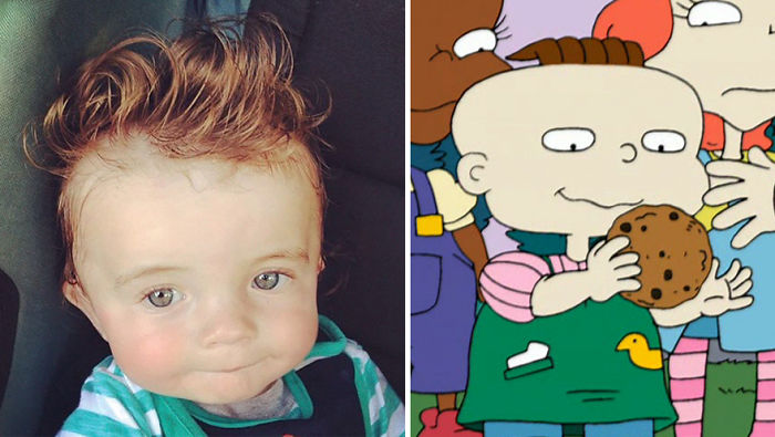 This Baby Looks Like Phil Deville From The Rugrats