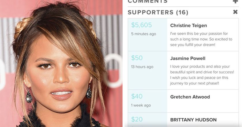 Image result for Chrissy Teigen Pays Fan's Tuition For Beauty School And Brings Twitter To Tears