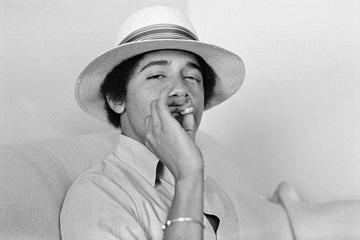 Young Barack Obama Smoking A Joint
