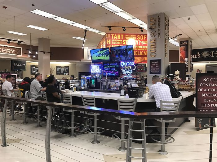 This Grocery Store Has A Bar For All The People Who Got Dragged Along