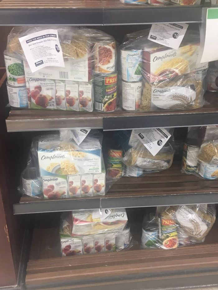 My Local Supermarket Has Pre Made Kits For People To Buy And Give To The Homeless Or Food Shelters