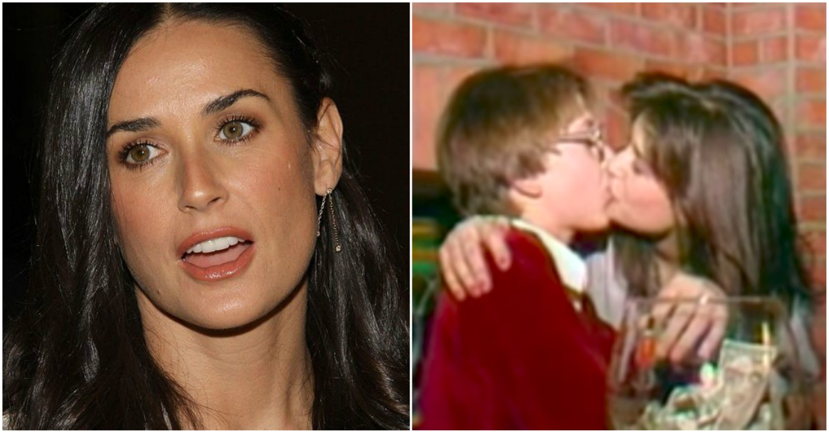 Disturbing Video Of Demi Moore Kissing A 15 Year Old Boy