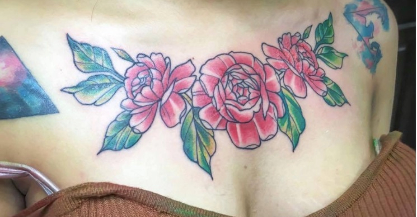 Woman Left In Agony When Her Chest Tattoo Falls Off, Taking Her Skin With It - 10 Gone -8572