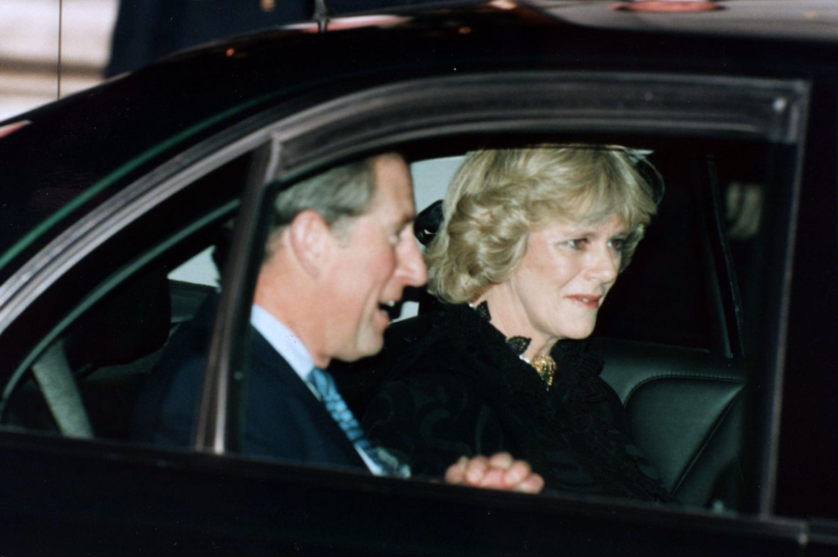 Prince Charles with Camilla Parker Bowles after posing publicly for the first time together
