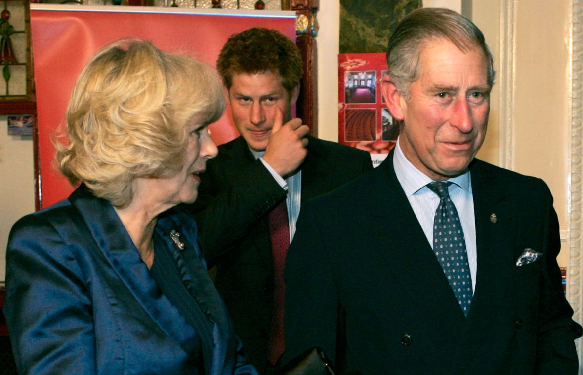 Camilla Parker Bowles and Prince Harry Prince Charles