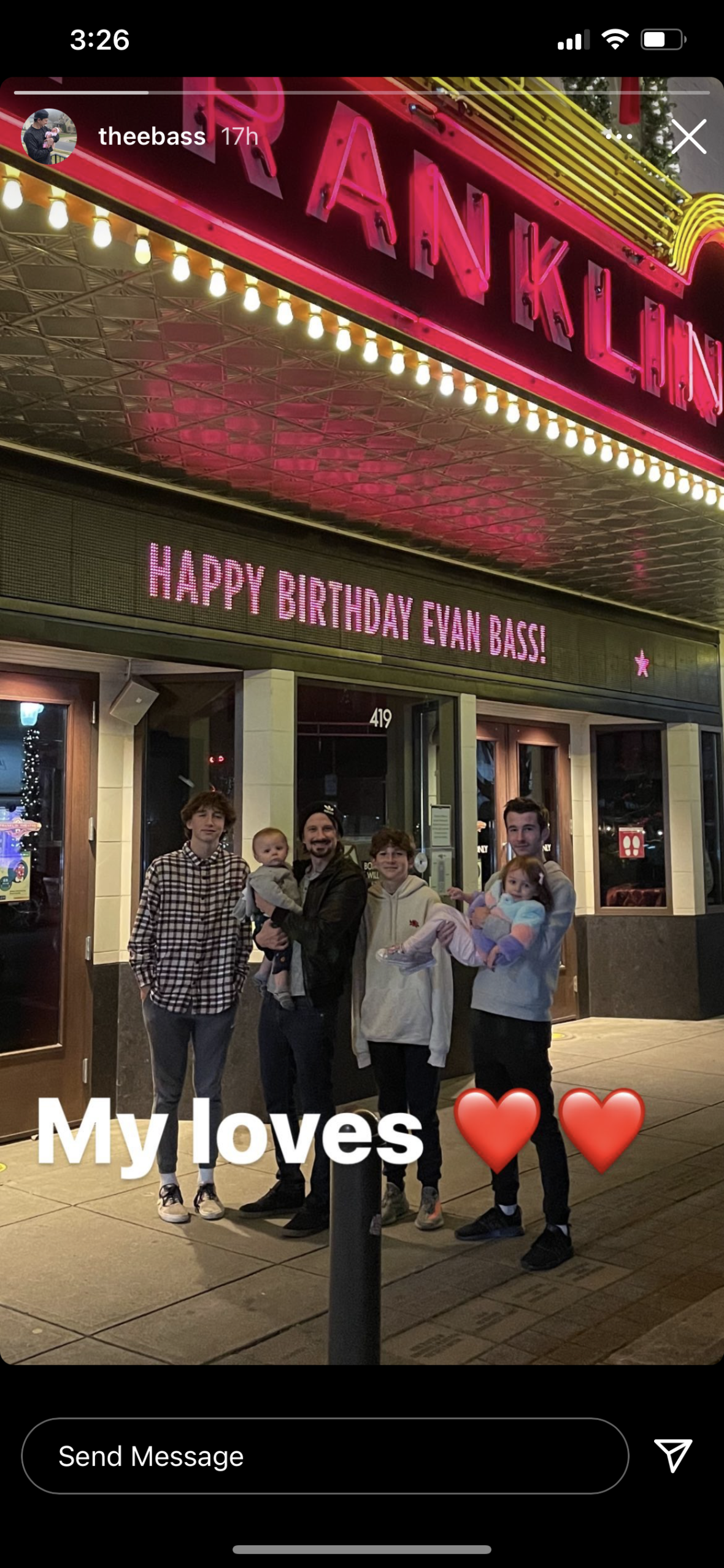 Evan Bass With His Kids